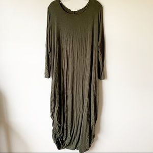 LOVE IN Olive Green Cinch Maxi Dress